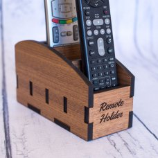 Walnut Remote Holder