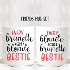 Blonde & Brunette Besties Mugs