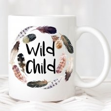 Wild Child Feather Mug