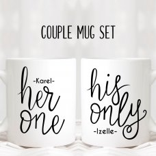 Her One His Only Mugs