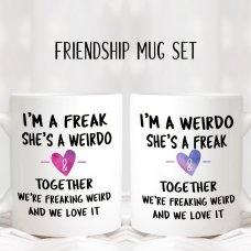 Freaking Weird Friendship Mug Set