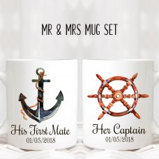 Mr & Mrs Nautical Mugs