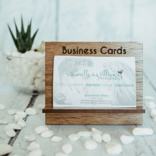 Brown Square Business Card Holder