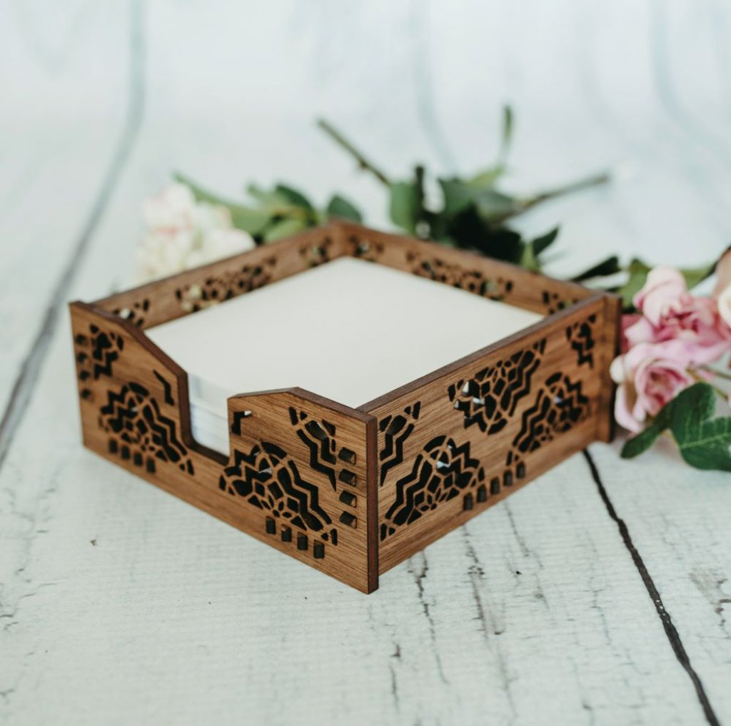 Damask Memo Pad Holder
