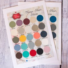 Petite Rouge Hand Painted Colour Chart
