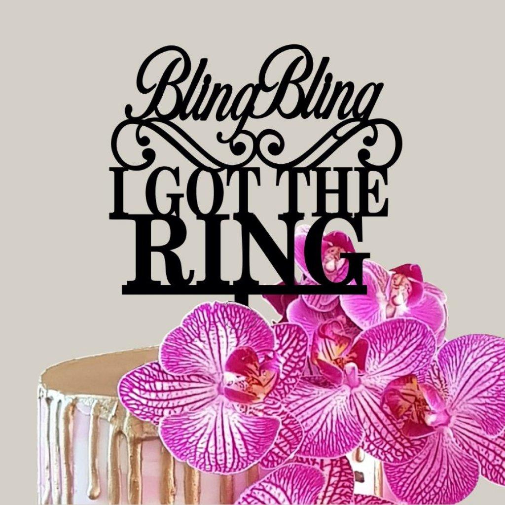 I Got The Ring Topper