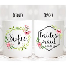 Bridesmaid Floral Frame Mug