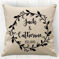 Wreath Couple Cushion
