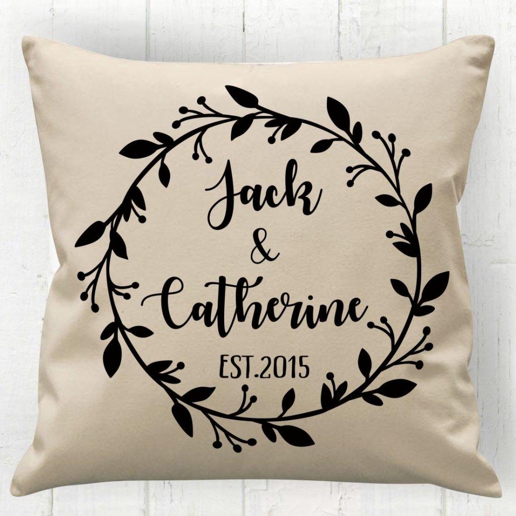 Wreath Couple Cushion