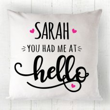 Cursive Hello Cushion