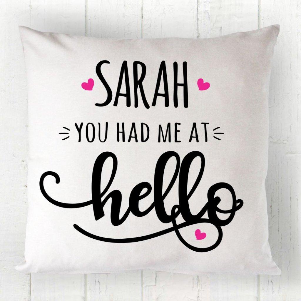 Cursive Hello Cushion