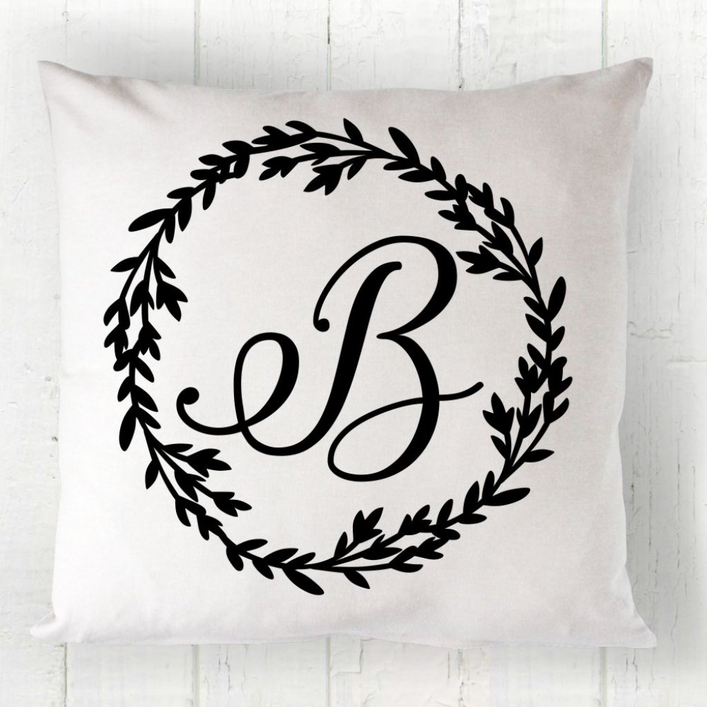 Wreath Monogram Cushion