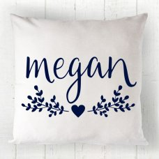 Floral Name Cushion