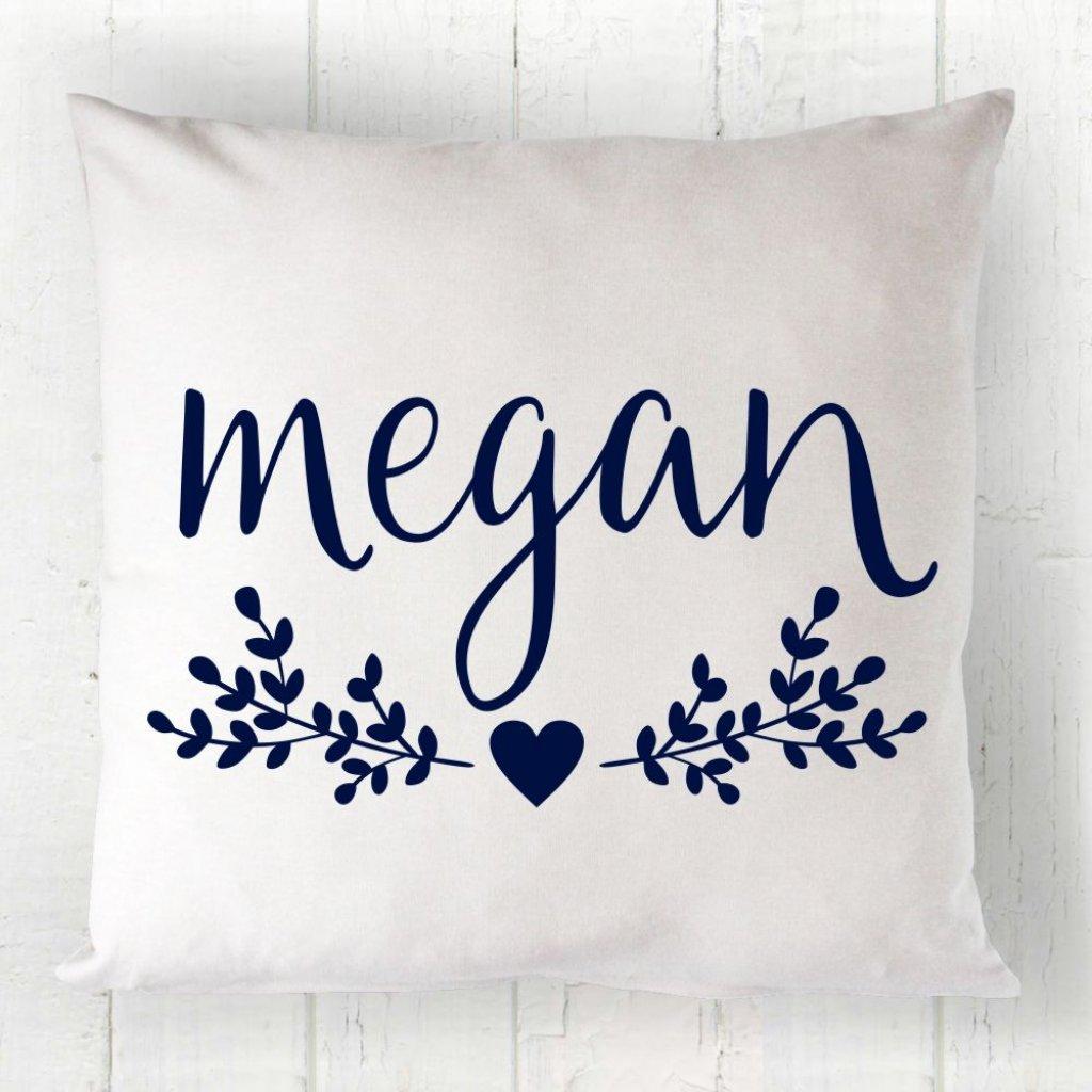 Floral Name Cushion