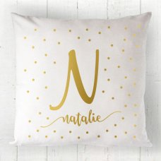 Dot Initial Cushion