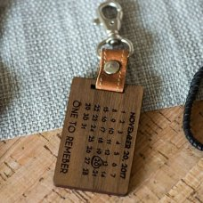 Anniversary Leather Keyring