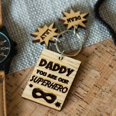 Daddy My Hero Keyring