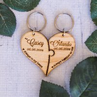 Heart Puzzle Keyring Set