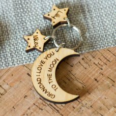 To the Moon Keyring