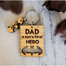 Dad My Hero Keyring