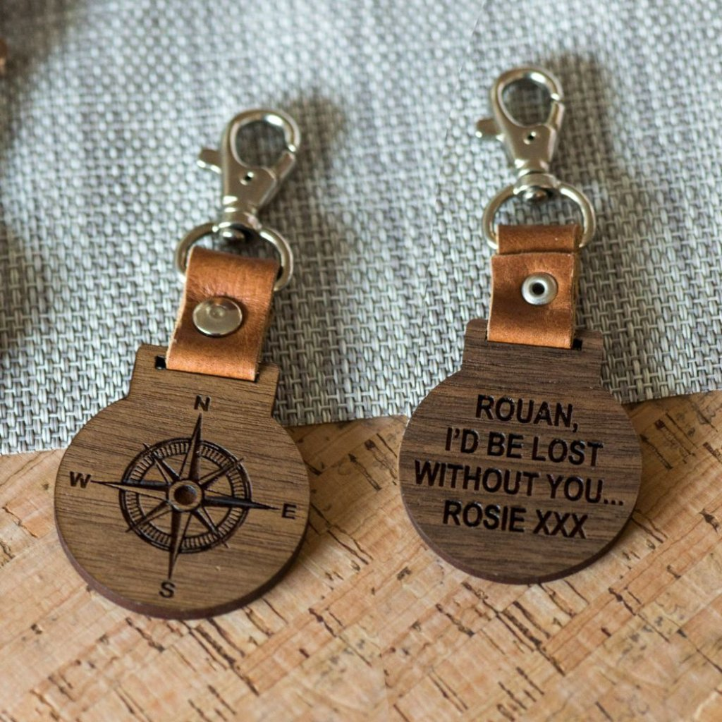 Lost Without You Leather Keyring