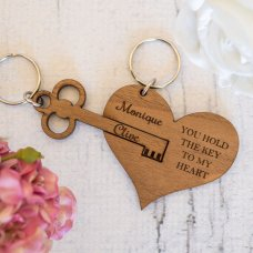 Key To Heart Keyring
