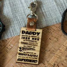 Superhero Leather Keyring