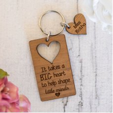 A Big Heart Keyring