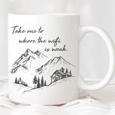Where The Wifi Is Weak Mug